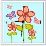 Green Leaf Art Garden Flowers Decorative Art Clock