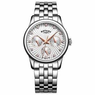 Rotary Womens Analogue Classic Quartz Watch with Stainless Steel Strap LB00671/07