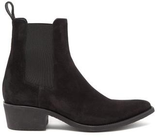 Amiri Crepe-sole Suede Chelsea Boots - Mens - Black