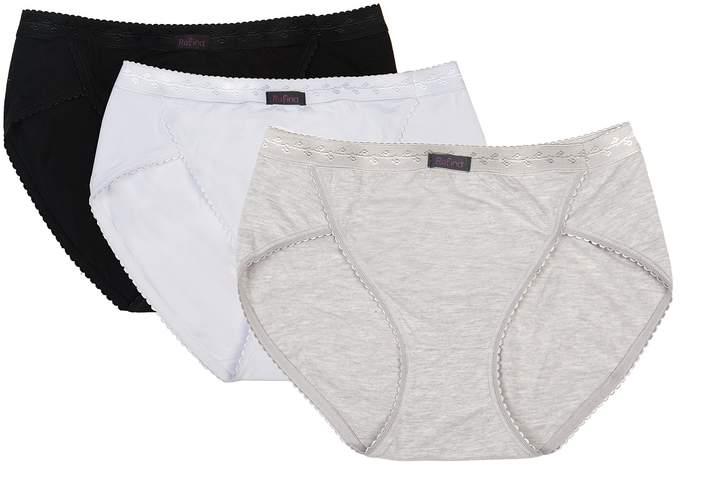 8c51b2a55b80 White Cotton High Waist Knickers - ShopStyle Canada