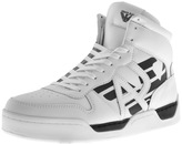 Armani Jeans Hi Top Logo Trainers White