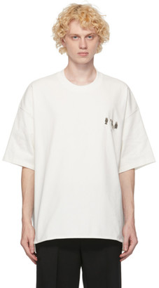 Jil Sander White Metal Decoration T-Shirt