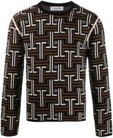 Lanvin JL jacquard knitted sweater