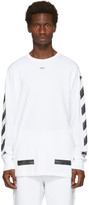 Off-White White Diagonal Brushed T-Shirt