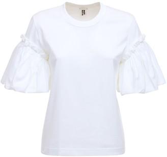 Noir Kei Ninomiya Ruffled Cotton Jersey T-shirt