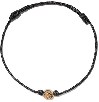 Shamballa 18kt yellow gold and diamond Star of bead bracelet