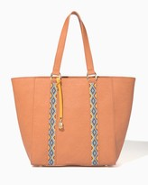 Charming charlie Embroidered Panel Tote