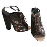 Givenchy Khaki Patent leather Sandals