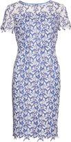 Gina Bacconi Dainty stitch leaf embroidery dress