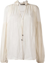Plein Sud Jeans peasant blouse