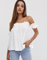 Asos Design DESIGN off shoulder sun top in cotton
