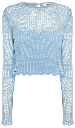 Alexander McQueen Lace-Embroidered Top