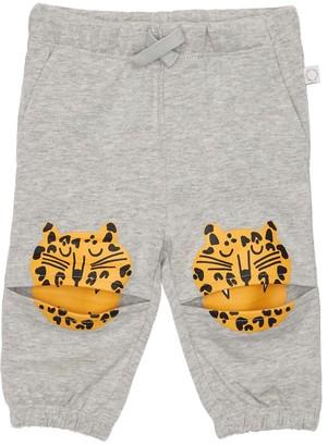 Stella McCartney Kids Organic Cotton Sweatpants W/ Tiger Print