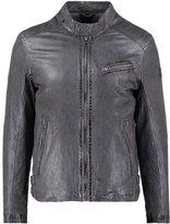 Oakwood Subway Leather Jacket Gris Clair