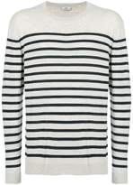 Closed striped sweater