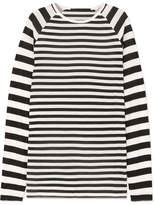 Haider Ackermann Striped Silk-chiffon And Ribbed Jersey Top - Ivory