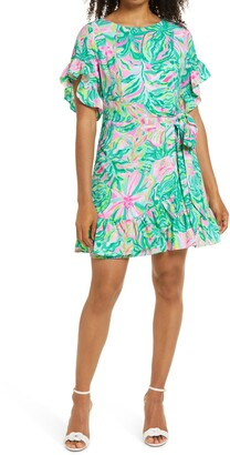 Lilly Pulitzer Darlah Print Ruffle Dress