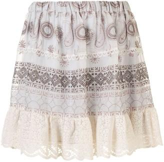 Alexis Linen High Waisted Mini Skirt