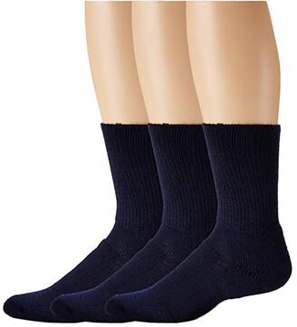 Thorlos Walking Crew Socks (Navy) Crew Cut Socks Shoes