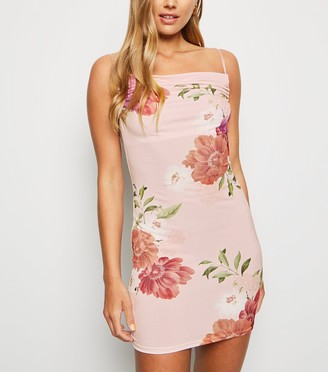 New Look Carpe Diem Floral Mini Slip Dress