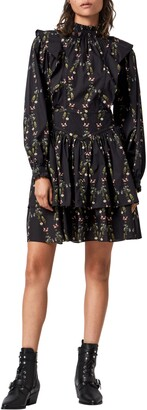 AllSaints Aislyn Varanasi Floral Long Sleeve Cotton Dress