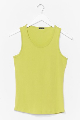 Nasty Gal Womens Totally Invested Jersey Tank Top - Lime