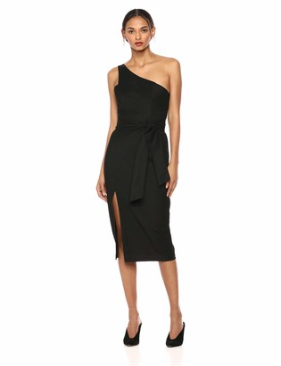 Finders Keepers findersKEEPERS Women's Francis ONE Shoulder MIDI Sheath Dress with Slit