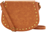Cognac Studded Crossbody Bag