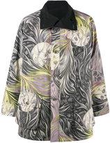 Yohji Yamamoto reversible skull print caban jacket