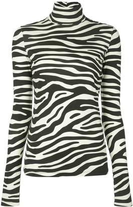 Proenza Schouler White Label zebra print jumper