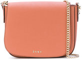DKNY foldover crossbody bag - women - Leather - One Size