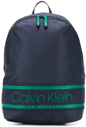 Calvin Klein Logo Print Backpack
