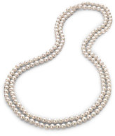 8MM White Pearl Endless Strand Necklace/60