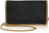 Stella McCartney The Falabella Faux Brushed-leather Shoulder Bag - Black