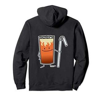 Thai Iced Tea & Bendy Straw Happy Drink Thailand Pullover Hoodie