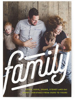 Minted We Are Family Christmas Photo Cards