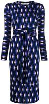 Diane von Furstenberg geometric print midi dress