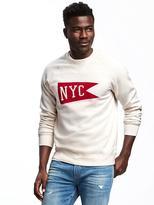 """Old Navy """"NYC"""" Graphic Fleece Sweatshirt for Men"""