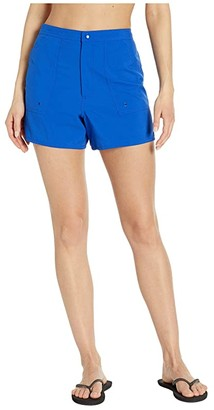 Maxine Of Hollywood Swimwear Solids Woven Boardshorts (Cobalt) Women's Swimwear