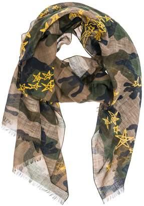 Valentino Star Print Camouflage Scarf