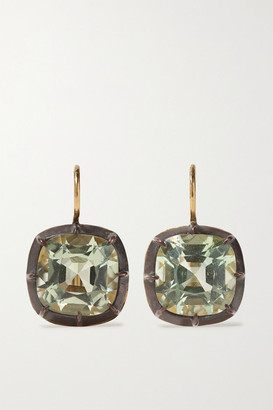 Fred Leighton Collection Silver-topped 18-karat Gold Quartz Earrings