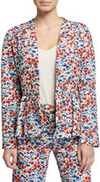 Stine Goya Tulip Printed Peplum Jacket