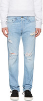 Rag & Bone Ssense Exclusive Blue Standard Issue Fit 3 Jeans