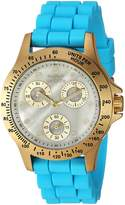 Invicta Women's 'Speedway' Quartz Stainless Steel and Silicone Casual Watch, Color: Blue (Model: 21979)