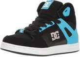 DC Boys Rebound Se Black Blue Shoes Size 1.5