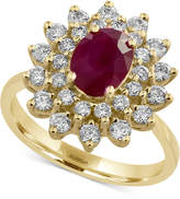 Effy Amoré by Certified Ruby (1-3/8 ct. t.w.) and Diamond (3/4 ct. t.w.) Statement Ring in 14k Gold