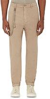 Helmut Lang Men's Suspender-Strap Cotton-Cashmere Drop-Rise Trousers