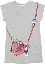 Little Marc Jacobs Heart Bag Print Cotton Sweatshirt Dress