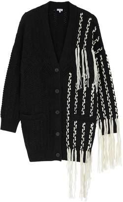 Loewe Black Fringed Wool-blend Cardigan