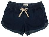 Hudson Girl's Frayed Denim Jog Shorts